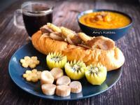早午餐-南瓜濃湯潛艇堡