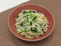 蒜苗清炒大頭菜
