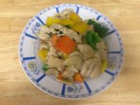 三色椒杏鮑菇炒雞胸肉