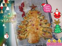 菠菜酥皮聖誕樹