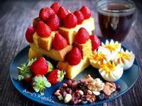 早午餐-草莓吐司磚