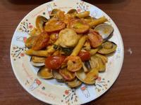 (好市多)干貝鮮蝦義大利筆管麵