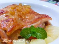鳳梨蜜汁雞腿排