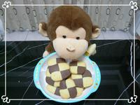 [小p猴] 格子餅乾