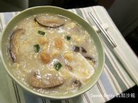鮮貝香菇滑蛋粥