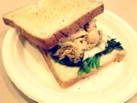 brunch♥雞肉菠菜三明治