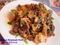 滑蛋泡菜炒牛肉