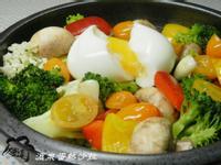 [氣炸鍋]溫泉蛋熱沙拉