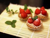 手工果醬系列♫鮮草莓塔❤快速草莓卡士達醬