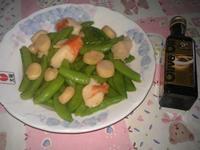 [得意的一天橄欖油]干貝蟹肉炒甜豆