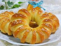 【得意的一天橄欖油】美麗好吃的《紅豆花型麵包》