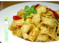 素料理~塔香椒鹽麵腸