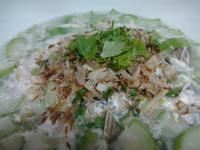 柴魚絲瓜蛤蜊麵線