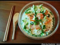 輕食料理-鮮蝦豆皮蔬菜冬粉湯