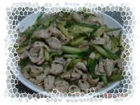 肉片炒小黃瓜(李錦記舊庄特級蠔油)