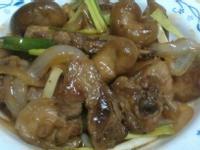 洋蔥鮮菇燒排骨