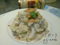 「Classico義大利麵香濃白醬」之香蒜海味燉飯