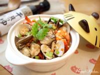 《Peggy廚房》鮮蚵海鮮釜飯 ─ 時間淬釀的甘露之味