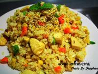南洋風味-咖哩雞肉炒飯