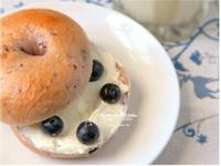 [阿妮塔♥bread] 手作早餐藍莓貝果。