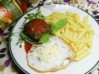 Classico義大利麵蕃茄羅勒醬~蕃茄羅勒漢堡筆管麵