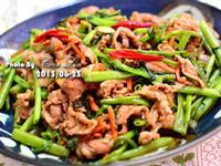 【可拉的鏡頭】沙茶空心菜炒五花肉片