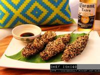 居酒屋料理- 和風照燒芝麻烤雞串