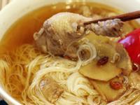 暖呼呼的微醺 - 全酒麻油雞麵線 Taiwanese Sesame Chicken Soup