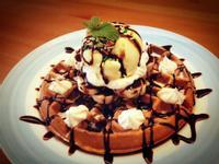 【吳双の親子食堂】香蕉巧克力冰淇淋鬆餅