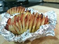 簡單氣炸鍋-手風琴火腿馬鈴薯