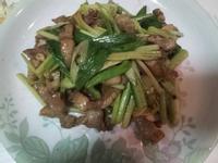 煮夫上菜-蒜炒鹹豬肉