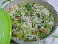lanni  鑄鐵鍋燜煮櫻花蝦芥菜飯