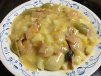 【康寶_就是醬美味】鮮蝦火腿玉米貝殼麵