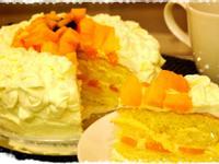 芒果鮮奶油蛋糕~夏季限定喔^^