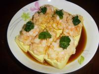 蝦仁蒸豆腐