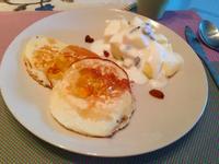 接骨木橘子蜂蜜煎餅水果酸奶早餐【小確幸Angel⭐廚房】