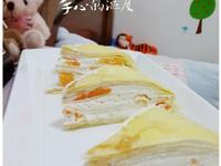 芒果千層蛋糕-免用烤箱