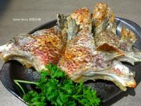 烤香料魚下巴