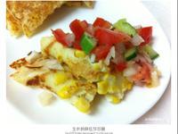 玉米煎餅佐莎莎醬