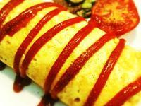蔬菜磨菇蛋包炒飯