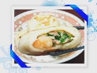 韭菜豬肉蝦仁餡餅