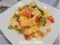♥我的手作料理♥豆腐炒蕃茄蛋