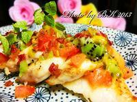 香煎鯛魚佐水果油醋醬【泰山橄欖油】