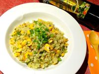 青醬玉米蛋炒飯----泰山橄欖油