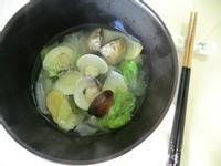 白菜蛤仔湯