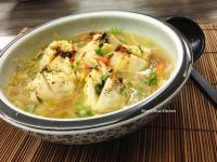 花枝起司丸子燒佐蔬菜清湯