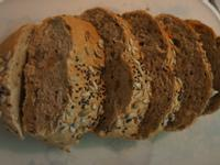 黑糖乳酪堅果麵包♥
