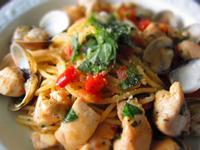 羅勒蕃茄蛤蜊雞肉麵