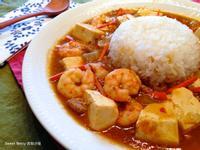 蝦仁豆腐咖哩燴飯
