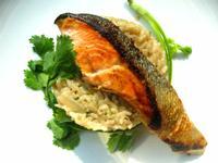 和風鮭魚味噌燉飯